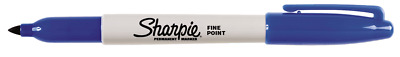 2x Sharpie PERMANENT MARKER 1mm Fine Point, Resilient Tip BLUE *USA Brand