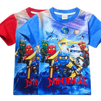 Kids Boy Baby Ninjago Big Eyes Short Sleeve T-shirt 4-9 years Summer Top Leisure
