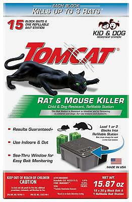 Rat Trap Mouse Bait Station Cage Refillable Best Outdoor/Indoor Heavy Duty Cheap