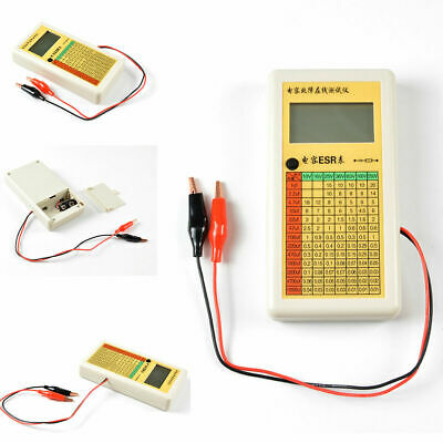 New ESR Capacitance Ohm Meter Capacitor Resistance In Circuit Tester