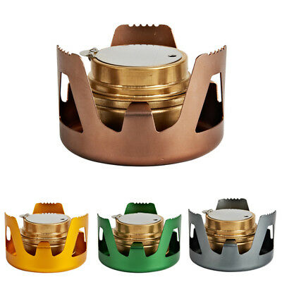 Portable Alcohol Stove Outdoor Mini Burner For Backpacking Hiking Camping 4Color