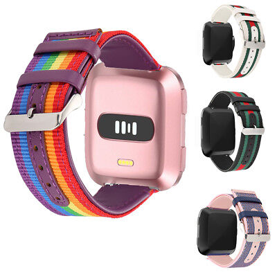 For Fitbit Versa Smart Watch Strap Leather Bracelet Wrist Band  Replacement