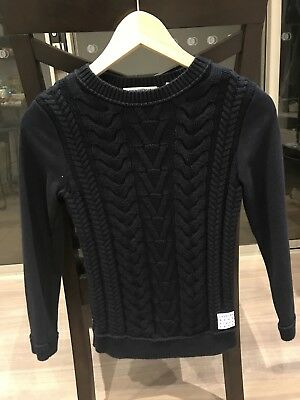 Country Road Boys Knit Jumper  Dark Blue size 10 long sleeve.