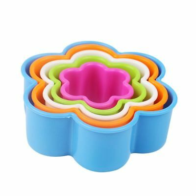 20X(5pcs Colorful Fondant Cake Cookie Sugar craft Cutters Shapes Decoratin O2Y7)