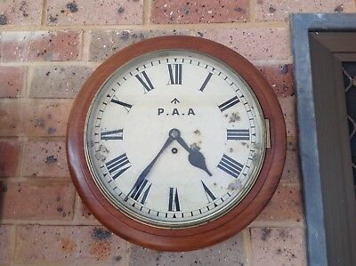Antique/vintage military P.A.A wall fusee clock, working