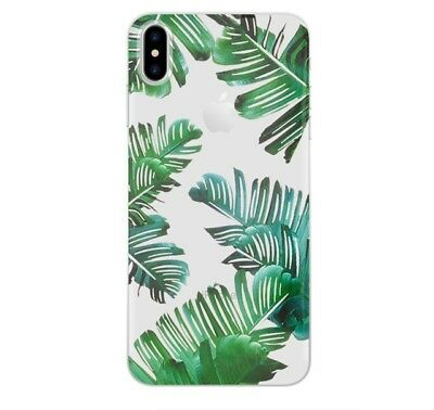 XHCOMPANY leaf Coque for iPhone X 7 8 Plus 6 6S Case Fashion Design Green Leaves
