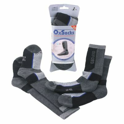 Oxford Long Arch Support Breathable OxSocks Twin Pack For Motorcycle Motorbike