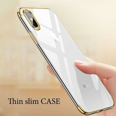 XHCOMPANY Luxury Crystal Clear Case For iPhone X Case Ultra Slim Soft TPU Cover