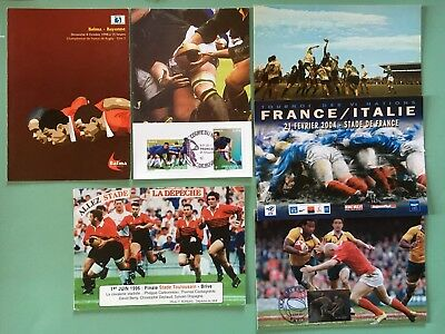 RUGBY: 7 Cartes Varia à collectionner.