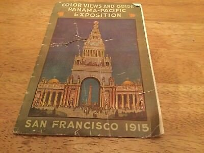 Antique San Francisco Panoramic View, Panama Pacific Exposition, 1915