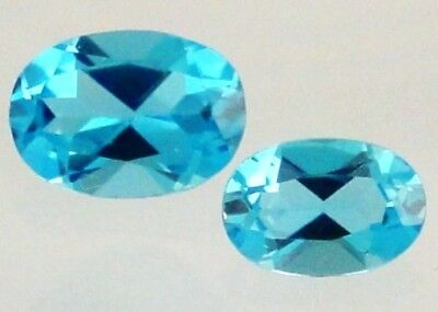 London Blue Topaz Gemstone Oval VVS 6x4mm Loose Natural Gem Best Quality AAA Cut