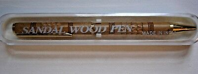 Sandal Wood Pen in Plastic Case, Lots of Texture!, Made in India