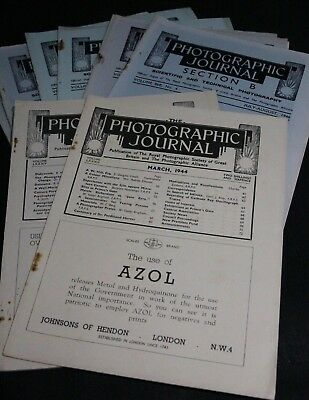 8 copies of The Photographic Journal from the 1940's