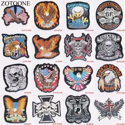 Punk Rock Bike Patch Large Embroidery Biker Patch Motorcycle Iron On Patches