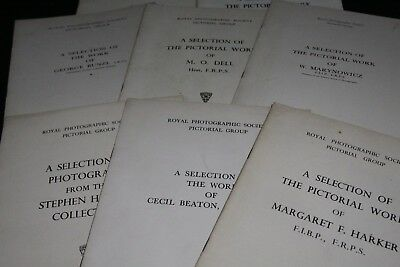 12 copies of The Royal Photographic Society monographs inc the pictorial group