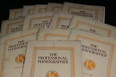12 copies of The Professional Photographer 1926 - 1928