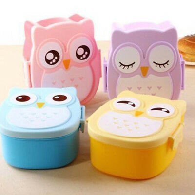 1PC Cute Cartoon Student Lunch Box Food Container Storage Portable Kid Bento Box