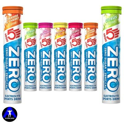 High5 Zero Electrolyte Hydration Drink Sport Cycling Energy 20 Tablets High 5