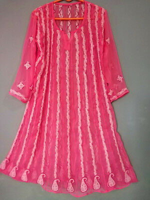 Indian Chikankari Embroidery Women Kurti Eid Special Anarkali Pakistani Kurta