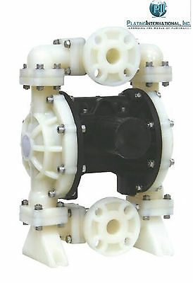 "Chemical Resistant Poly 1"" Air Diaphragm Pump with TF / PTFE Diaphragms"