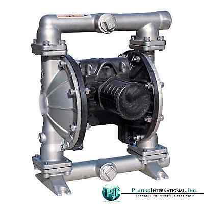 "Industrial 1"" Stainless Steel Air Diaphragm pump with TF / PTFE Diaphragms"