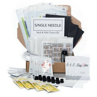 Single Needle - Hand Poke Kits - Stick and Poke Sets - ALL TATTOO KITS TYPES