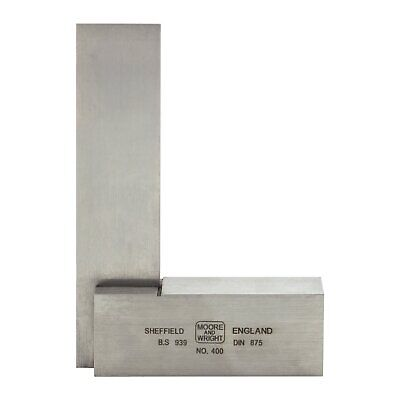 "Engineer Square 75mm/ 3"" Moore and Wright Precision Ground Measuring Face 400-03"