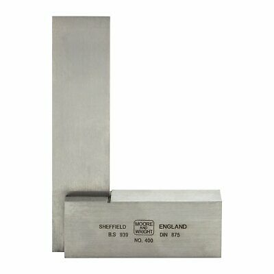 """Moore and Wright 75mm 3"""" Engineers Square Precision Ground Measuring Face 400-03"""
