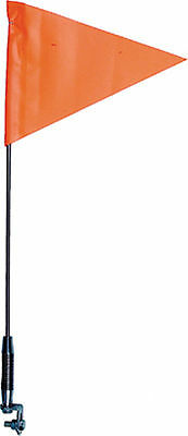"""Telescopic Safety Flag 25"""" to 5' Orange Spring Base with LED Red Whip Light NEW"""
