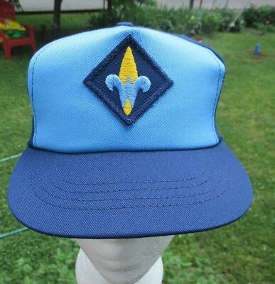 Webelos Cub Scout Official Blue Hat Snap Back Made In USA Size S/M Vintage