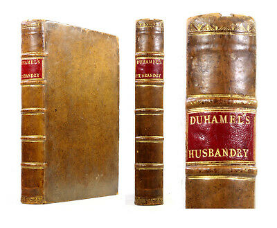1762 Old Antique 18th Century Duhamel Husbandry Agriculture Farmers Farming Rare