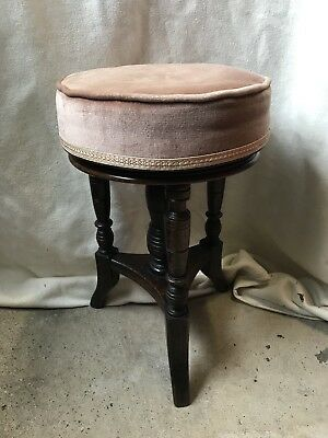 Antique Round Adjustable Piano Stool
