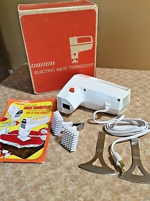 Vtg Electric Cosco MEAT TENDERIZER ~Model MT2~With Cleaver/Dicer Blades