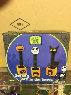 neca Disney Nightmare before christmas jack in the box set of 3 non functional