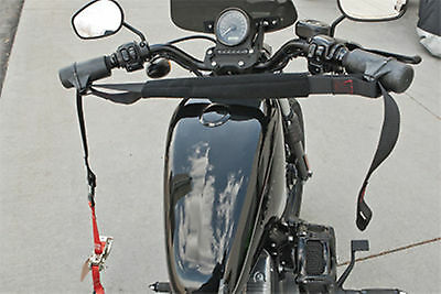 """Motorcycle HANDLEBAR HARNESS Tiedown Towing Straps Short Size Fits Up to 28"""" NEW"""