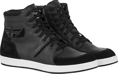 M16 Waterproof Casual Motorcycle Shoes Leather Chuck Taylor Style Mens 8-13 NEW