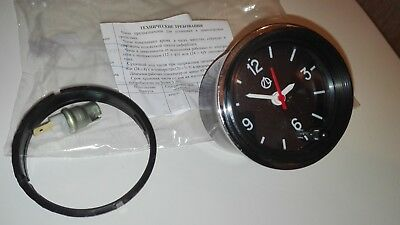Luch Quartz Car Dashboard Clock Round Retro LADA Restoration old new school 12V