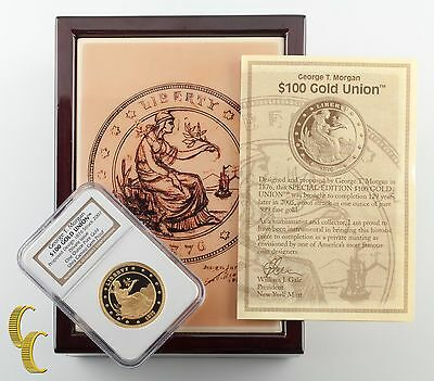 "George T. Morgan 1876 ""Proposed Union"" Gold Struck 2007 Box & Papers"