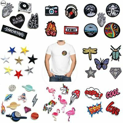 Embroidery Parches Iron on Patches for Clothing DIY Clothes Stickers Appliques B