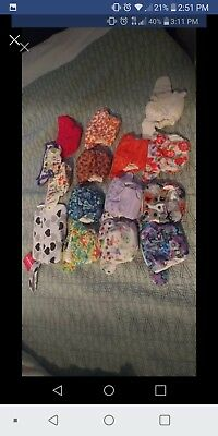 10 New Born Simplex diapers 3 covers 1 diaper pouch 1 fitted