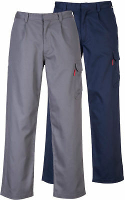 Portwest BZ31 Bizweld Flame Resistant Cargo Pants Gray or Navy S-6XL