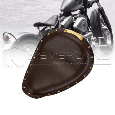 Motorbike Cafe Racer Solo Seat Cover For Harley Fatbob 48 72 Softail Universal