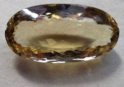 "A2668 36.80 Ct Natural Citrine ""Certified"" Pendant Size Golden Gemstone."