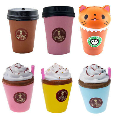 Coffee Drink Jumbo Slow Rising Squishies Squishy Squeeze Fun Toy Stress Reliever