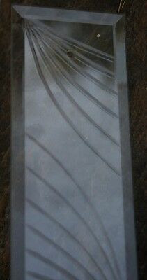 Antique Vintage New Old Stock Cut Crystal Glass Door Finger Push Plate