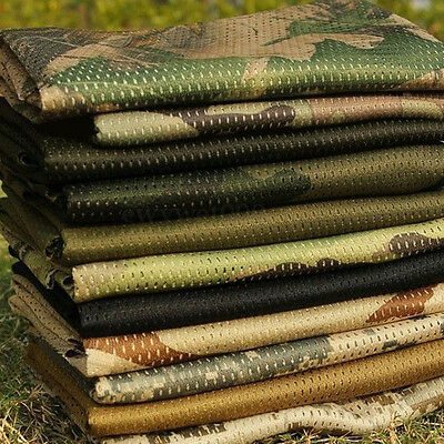 Tactical Military Style Army Camouflage Camo Scarf Wrap Face Veil Net Mesh Cover