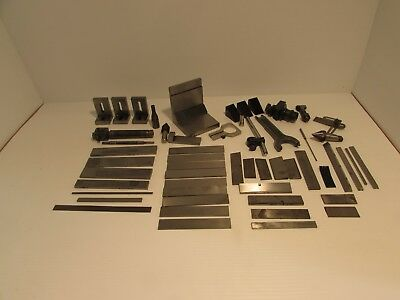 Large Lot 50 Pc Machinist Setup Work Holding Parallel Starrett Modco W and more