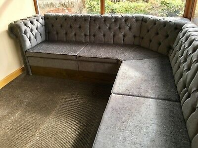 Chesterfield Free Standing Bench Seating Banquet/bench/booth/home/bar/restaurant