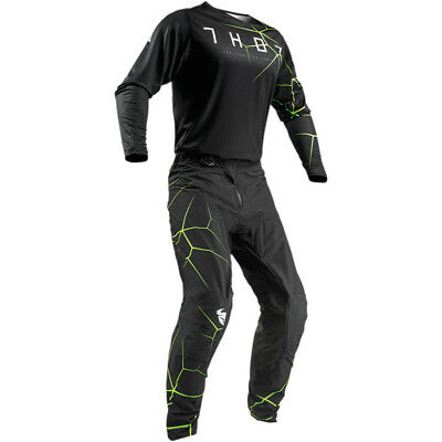 2019 Thor Mx Prime Pro Infection Black/acid Jersey And Pant Combo **customized**