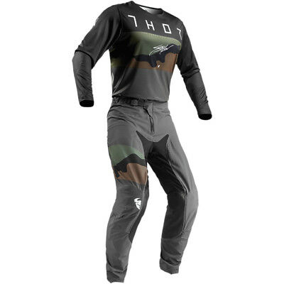 2019 Thor Mx Prime Pro Fighter Charcoal/camo Jersey And Pant Combo *customize*